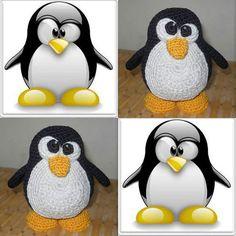 """Было у моего знакомого День рождения... и задавшись вопросом: """"что подарить?"""" Я решила связать ему вот такого пингвинчика Linux т. к. его работа связана с компьютерами ну а я умею вязать...#вязание#вязанаяигрушка#игрушкакрючком#вязаниекрючком #crochet #linux #linuxfan #crochettoy by otto_kristi"""