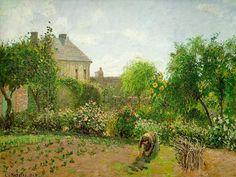 Campo de coles by Camille Pisarro, favorite impressionist.. next to monet of course :)