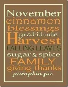 November things.