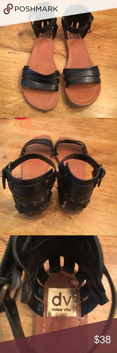 Dolce Vita Gladiators Black Dolce Vita Gladiators in great condition. Only worn a few times so bottoms look worn but front looks brand new. Size 8 and super cool! Dolce Vita Shoes Sandals