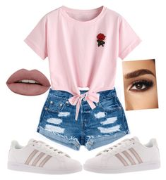 """""""Cute-Hipster"""" by doscelyn-javis on Polyvore featuring WithChic and adidas"""