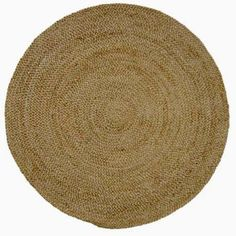 Acura Rugs Jute Natural Braided Round Rug - GR-601