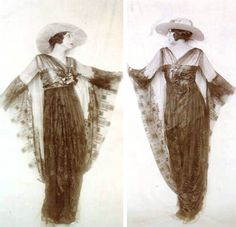 Evening dress by Lucile. From the FIT Archives via The Fashion Spot and Andréa Fagim