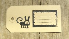 Gift-tag decorated with one of the stamps I sell. #design made by www.studioneeltje.nl @cora verhagen