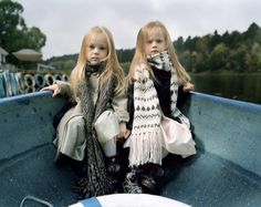 """I love this project. """"To be Young, Russian, and Rich"""" by Anna Skladmann. This is Ilona and Ella on a Rowing boat, Moscow 2009"""