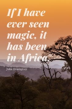 30 #Safari #Quotes to #Inspire You About #Africa. Looking for a new and exciting #adventure? These 30 famous quotes and safari #sayings will literally make you fall in #love with Africa! 😉 This is a very personal list. Some of these safari quotes first inspired me to #explore Africa, many many moons ago. These safari quotes continue to inspire me. #quote #travel #Hemingway