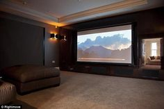 Private cinema: The plush media room would have been ideal for catching the football highlights on Match Of The Day