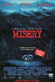 Misery (1990) - Classic Drama   Thriller - Former nurse Annie Wilkes saves her idol, romance novelist Paul Sheldon, after he crashes his car during a blizzard. But when she learns he plans to kill off her heroine in his next volume, Annie morphs from nurturing caregiver to sadistic jailer. Stars: James Caan, Kathy Bates, Richard Farnsworth ♥♥♥