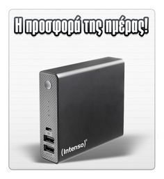 E-shop.gr Specials INTENSO 7333540 POWERBANK ST13000 SOFTTOUCH 13000MAH BLACK μόνο 26.9 €