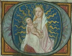 Religious Images, Religious Art, Illuminated Letters, Illuminated Manuscript, Book Of Hours, Prayer Book, Catholic Art, Book Cover Art, Children Images