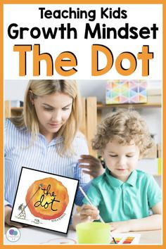 The Dot by Peter H Reynolds is the perfect book for teaching elementary kids about growth mindset. Includes lesson plans to compare and contrast The Dot and Ish with art activities, worksheets, writing ideas and more. Perfect to use with International Dot Day or any time of the year. #thedot #growthmindset #firstieland