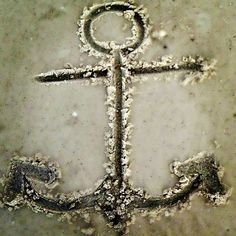 anchor in the sand #anchor