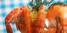Get a taste of the sea with this refreshing shrimp cocktail, complete with cocktail sauce. Chef Recipes, Food Network Recipes, Budget Recipes, Savoury Recipes, Fish Recipes, Summer Appetizer Recipes, Fun Appetizers, Christmas Appetizers, Amigurumi