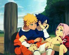 Naruto, Sasuke e Sakura. Naruto Vs Sasuke, Anime Naruto, Naruto Comic, Naruto Cute, Naruto Sasuke Sakura, Naruto Shippuden Anime, Naruto Funny, Naruto Girls, Sasunaru