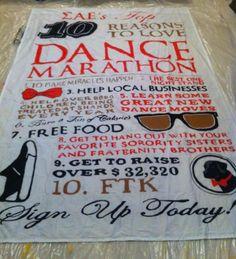 Dance Marathon banner - awesome promo idea