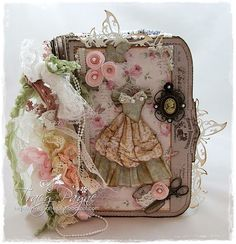 933 best albums shabby chic images on pinterest mini albums mini rh pinterest com how to make a shabby chic photo album shabby chic baby photo album