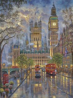 Cheap cross stitch kits, Buy Quality cross stitch kits directly from China stitching kit cross stitch Suppliers: New Cross Stitch Kits Unprinted Scenery London with Big Ben For Embroidered Handmade Art DMC Counted Set Wall Home Decor Winter Gif, Winter Scenes, London Art, London Street, London Snow, London Winter, London Night, Night City, Beautiful Paintings