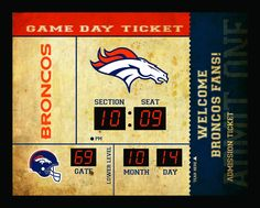 Denver Broncos Clock - 14x19 Scoreboard - Bluetooth