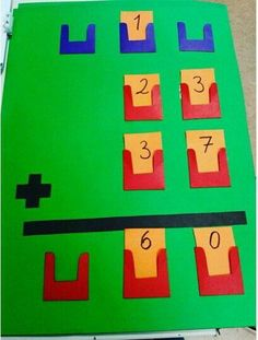 -March -Math addition -This activity gives children the ability to be hands on with the concept of addition or even subtraction Math Classroom, Kindergarten Math, Teaching Math, Math Math, Math Stations, Math Centers, Math Games, Math Activities, Material Didático