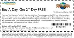 image about Universal Studios Hollywood Printable Coupons called Price cut discount codes for common studios california