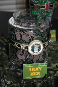 might do this instead of chocolate kisses during deployment in our glass jars