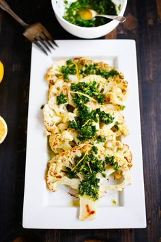 Feasting at Home: Roasted Cauliflower Steaks with Gremolata