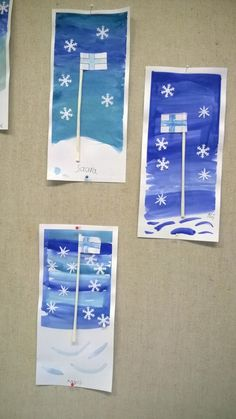 Winter Crafts For Kids, Art For Kids, Hobbies And Crafts, Arts And Crafts, Winter Art, Kindergarten Teachers, Art Classroom, Teaching Art, Independence Day