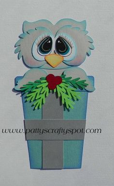 like the Christmas Snow Owl hate the eyes Paper Punch Art, Punch Art Cards, Paper Art, Simple Christmas Cards, Christmas Owls, Use E Abuse, Owl Card, Paper Owls, Shaped Cards