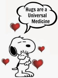 Hugs are the Universal Medicine - Snoopy and Woodstock Images Snoopy, Snoopy Pictures, Hug Images, Funny Pictures, Peanuts Cartoon, Peanuts Snoopy, Snoopy Hug, Snoopy Cartoon, Snoopy Quotes