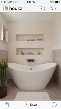 Split Face Stone Tiles Create A Textural Accent Wall In The Bathroom Design  Degrees North Architects