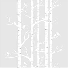 Birch wall sticker by Lara Cameron