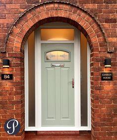 Timber Front Door, Composite Front Door, Front Door Porch, Wooden Front Doors, House Front Door, Door Ideas, Porch Ideas, Aluminium French Doors, Traditional Front Doors