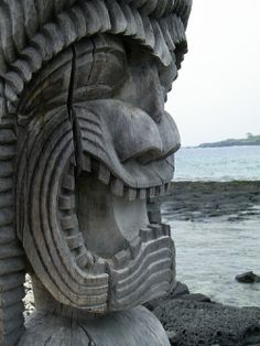 Hawaiian Tiki ~ With well-formed tikis, the people could attain protection from harm, strengthen their power in times of war and be blessed with successful crops.