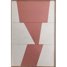 """""""Pink Formation Triptych - Jet0424"""" Original Acrylic Painting by Jason Trotter"""
