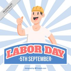 Vintage background of labor day with nice worker. Download thousands of free vectors on Freepik, the finder with more than 3 millions free graphic resources Yellow Theme, Labour Day, Happy Labor Day, Couple Cartoon, Desk Calendars, Background Vintage, Happy People, Business Women, Workplace