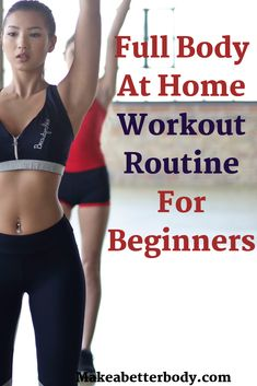 A great fat burning, bodyweight strength training at home workout routine for beginners that anybody can start right away. Build muscle and tone your body without ever leaving your house. Morning Workout At Home, Beginner Workout At Home, Easy At Home Workouts, Best At Home Workout, Workout Routines For Beginners, Work Out Routines Gym, Home Exercise Routines, Abs Workout Routines, Gym Workouts
