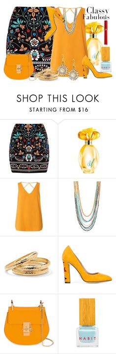 """""""Classy And Fabulous"""" by helenaymangual ❤ liked on Polyvore featuring Marni, GUESS, Dorothy Perkins, Erickson Beamon, ABS by Allen Schwartz, Palm Beach Jewelry, Paula Cademartori, Habit Cosmetics and Giorgio Armani"""