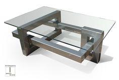 Mesa de centro moderna / de cristal / de hierro / de metal lacado IOS GONZALO DE SALAS