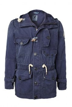 Polo Ralph Lauren Washed Navy Toggle Parka
