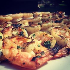 I fell in love with Barefoot Contessa's Grilled Herb Shrimp recipe  last March when we went to visit Morgan's Grandpa, Nana, and Aunt...