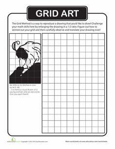 Worksheets: Grid Art