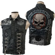 Jackets For Stylish Men. Jackets are a vital part of each and every man's clothing collection. Men will need jackets for a variety of activities as well as some climate conditions. Custom Leather Jackets, Leather Vest, Battle Jacket, Biker Vest, Bomber Jacket, Revival Clothing, Jacket Style, Look Cool, Stylish Men