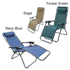 @Overstock - Sit back, relax and put your feet up inside or out in the comfort of the Outdoor Folding ReclinerChair features an innovative design with full-range reclining motionOutdoor seating locks into any positionhttp://www.overstock.com/Home-Garden/Deluxe-Zero-Gravity-Outdoor-Folding-Recliner/2076610/product.html?CID=214117 $76.99