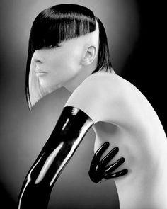 präsentiert von www.my-hair-and-me.de #women #hair #haare #abstrakt #black #and #white #schwarz #und #weiß #schulterlang #blonde #blond