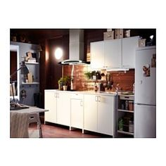 FYNDIG Wall cabinet with door, white, white - 40x35x60 cm - IKEA