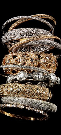 Yes! diamond and gold statement bracelets http://thepageantplanet.com/category/pageant-wardrobe/