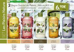 #LesPlaisirs Nature  2 Bagno Doccia da 400ml A Solo ⚠ 6.95€ #YvesRocherItalia #GiulianaResponsabileYR Yves Rocher, Bourbon, Shampoo, Personal Care, Album, Drinks, Bottle, Mint, Shower Gel