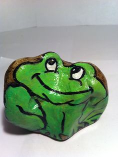 Frog Hand Painted Rock