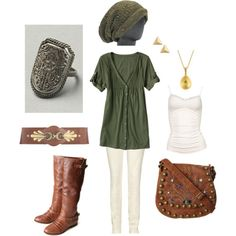 "Outfit inspired by the video game series ""The Legend of Zelda"" made via polyvore"