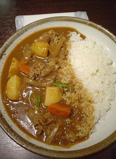 Japanese curry recipe- Japanese curry has become my new favorite thing about Japan... mmm.